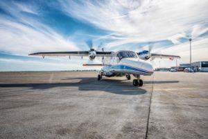 Das DLR-Forschungsflugzeug DO 228 in Cochstedt