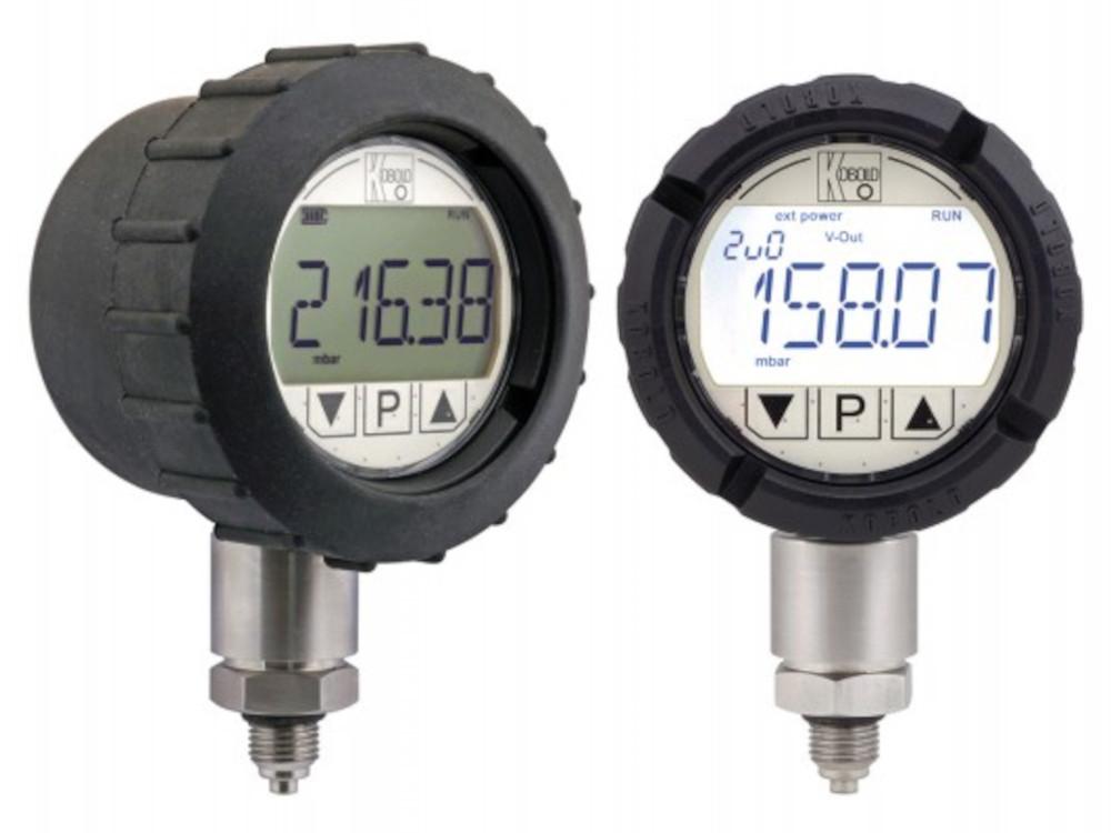Digital pressure gauge with IO-Link.